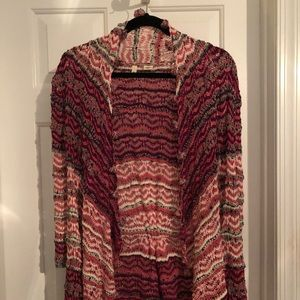 Anthropologie open front knit cardigan